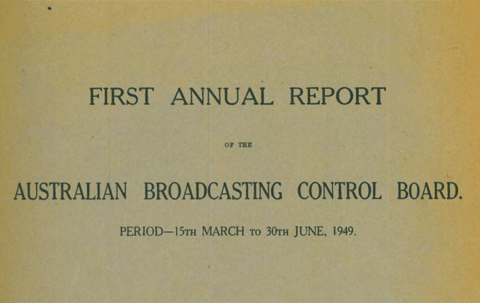 front cover of ABCB first annual report 1949