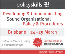Developing & Communicating Sound Organisational Policy & Procedures