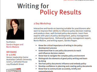 Writing for Policy Results flyer
